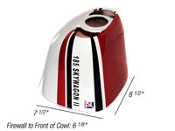 "ESM C 185 86.6"" Wingspan Replacement Cowl - ""A"" Red Color"