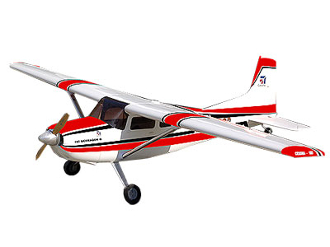 ESM Cessna 185 Color A Red and Black 86.6