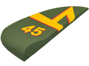 "ESM Japanese Nakajima Ki-84 Color F 72"" Replacement Rudder"