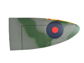 "ESM Spitfire Camouflage Color F 50cc 89"" Right Wing"