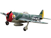 "ESM Republic P-47 Thunderbolt Color A DI Camouflage 71"" Wingspan"