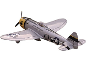 "ESM Republic P-47 Thunderbolt Color B DII Silver 71"" WingspanARF"