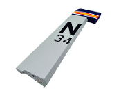 "ESM A1 Skyraider Color B Grey 71"" Wingspan Replacement Rudder"