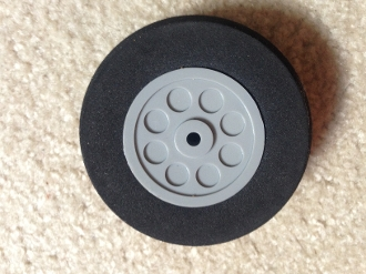 Foam Tire Plastic Wheel 3""