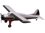 "ESM DHC-2 Beaver Color B Red and Black 95"" Wingspan Model ARF"