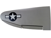 "ESM P-47 Thunderbolt Color B DII Silver 71"" Replacement wing"
