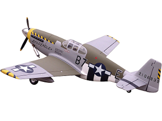 "ESM P-51 Mustang Tuskegan color B 71"" Scale ARF"