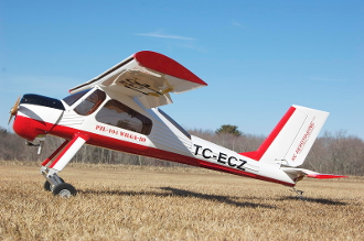 ECOM PZL-104 Wilga red/white 88.5""