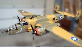 SUPER SCALE B-25 YELLOW ROSE 82""